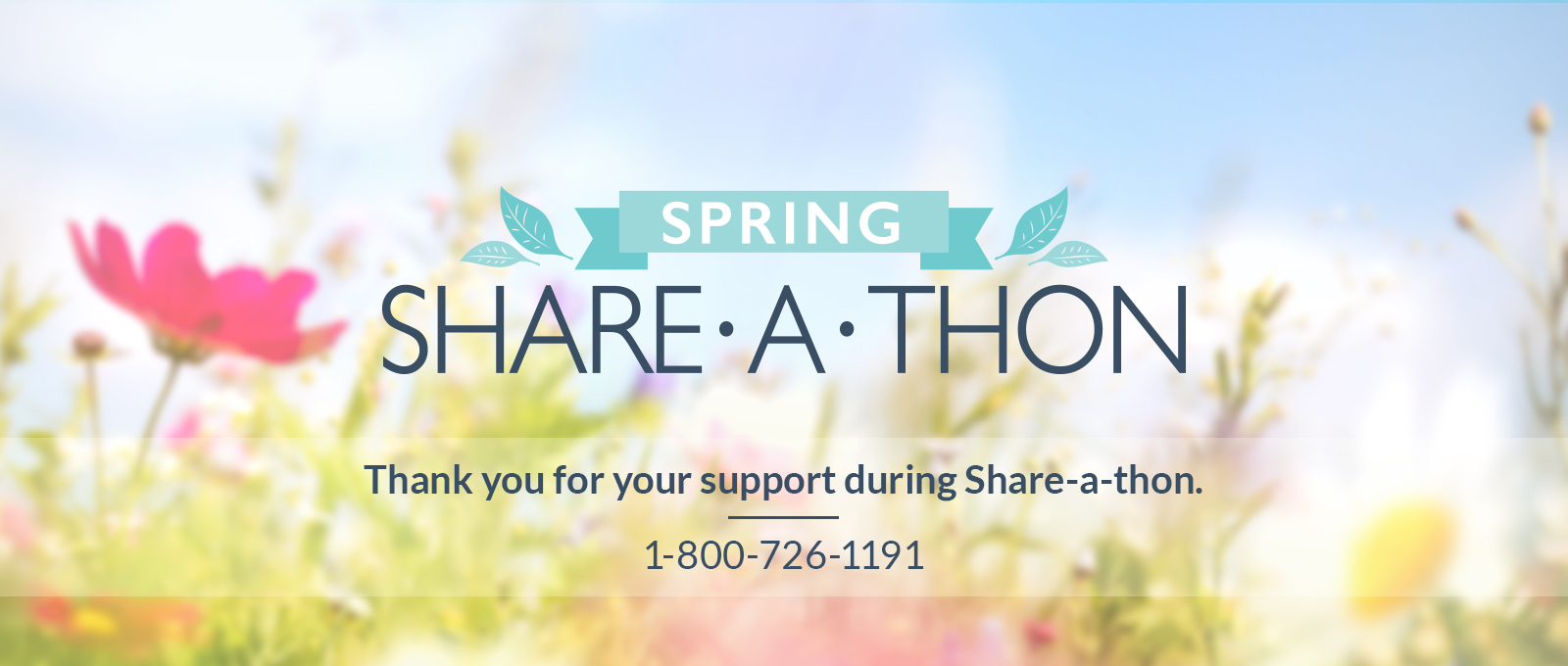 Thank you for your support during Share-a-thon