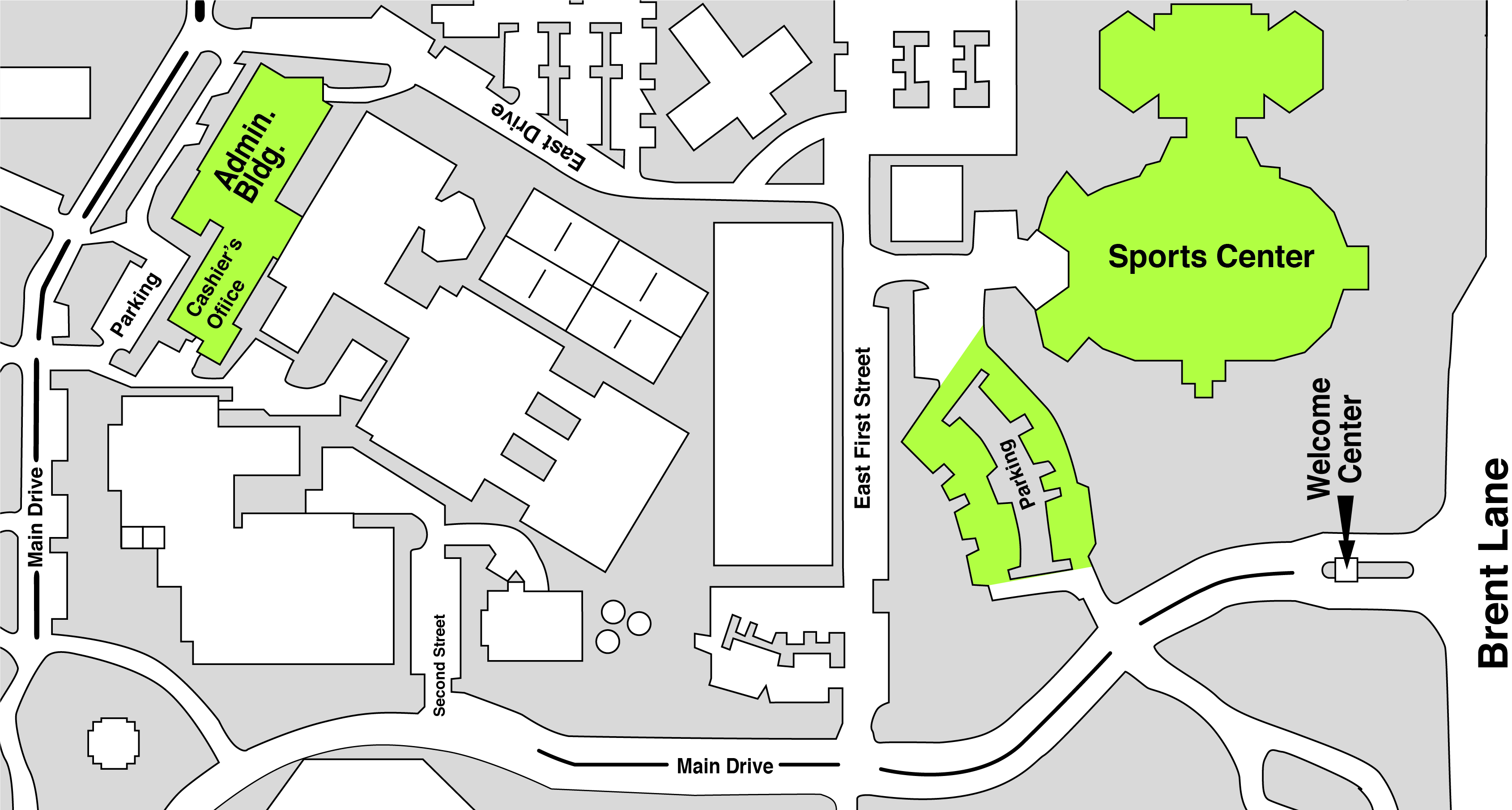 Sports Center Day Camp Map